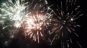 Fuochi d'artificio sul Lago di Bolsena