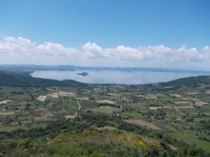 Il Panorama che si può ammirare dalla Rocca dei Papi di Montefiascone